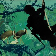 Soldier and birds
